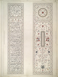 Tops of the cenotaphs of Shah Jahan and Arjumand Banu Begum, Taj Mahal, Agra 1808